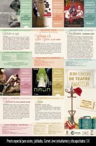 Programación XXI Concurso Nacional de Teatro Vila d'Ibi