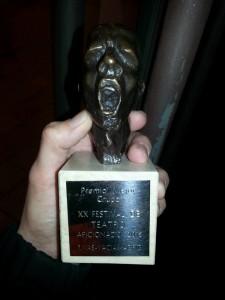 """Primer premio en el Certamen Nacional de Teatro de Rivas- Vaciamadrid para """"Último Cowboy"""""""