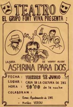 cartel Aspirina para dos